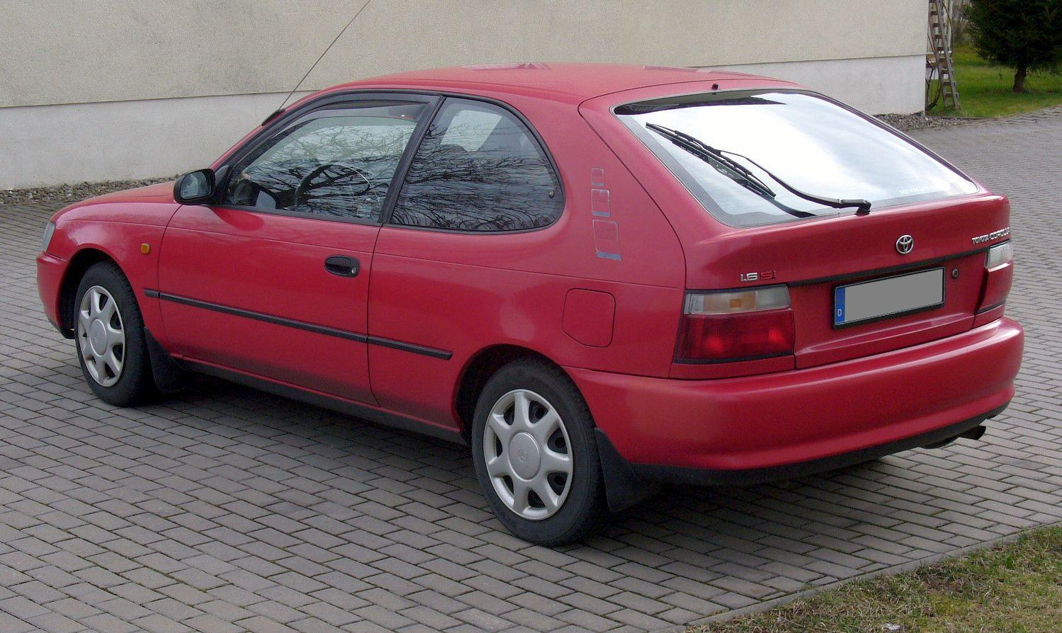 1996 Toyota Corolla Compact E10 Pictures Information
