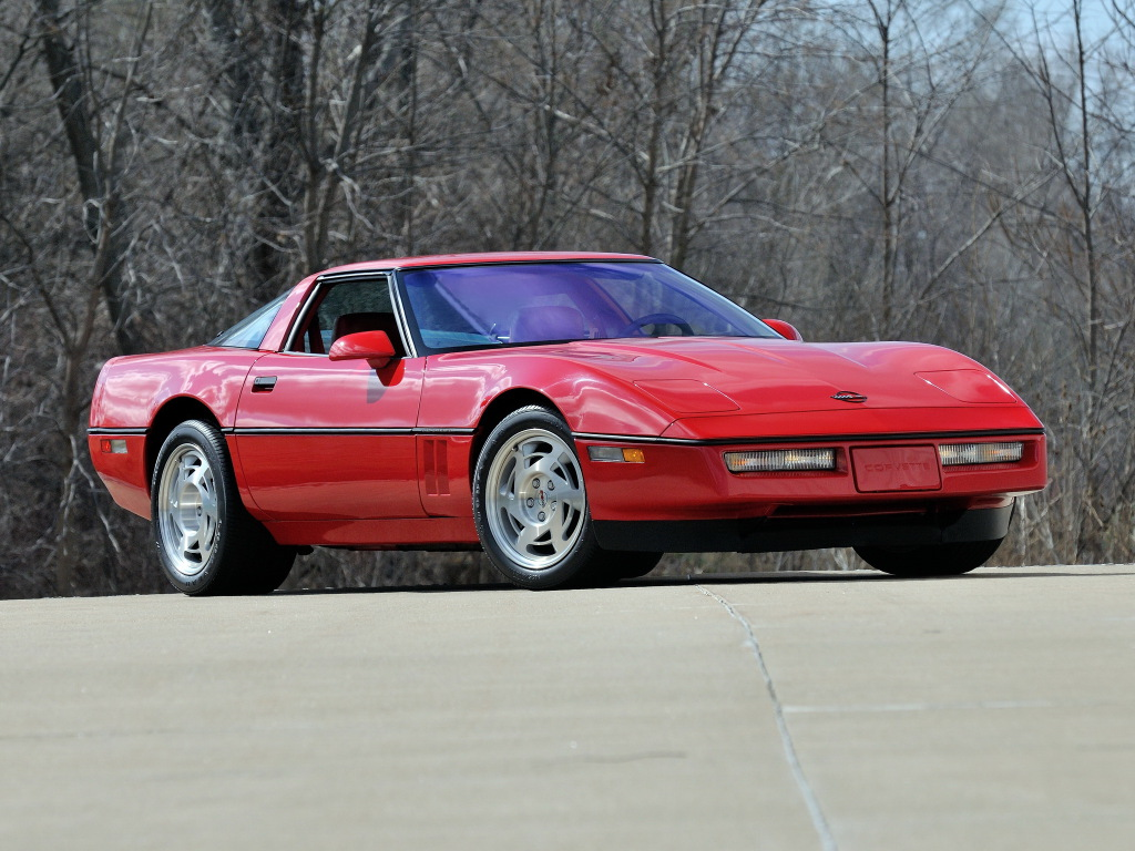 chevrolet corvette c4 coupe 1990 wallpaper