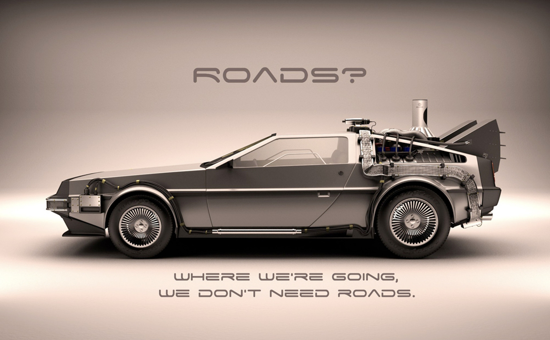 de lorean wallpaper