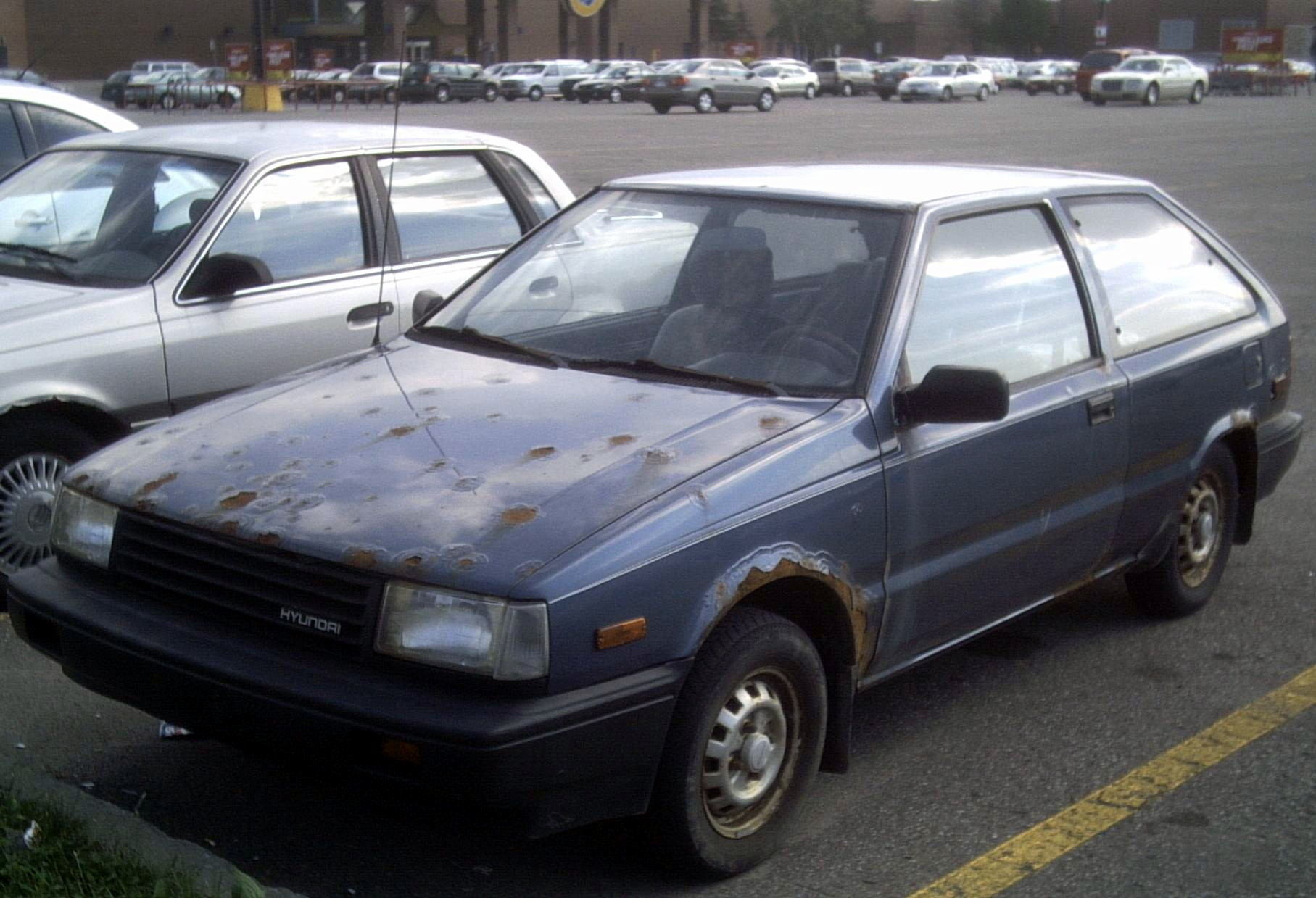 hyundai pony/excel sedan (x-2) 1990 pictures