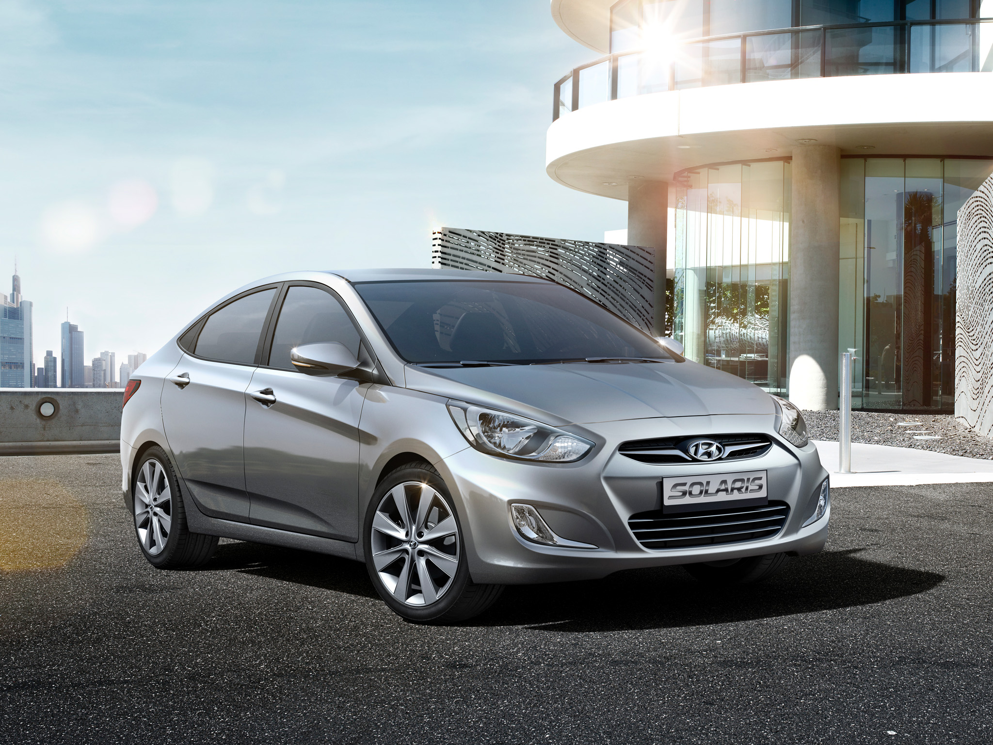 hyundai solaris sedan 2012 wallpaper