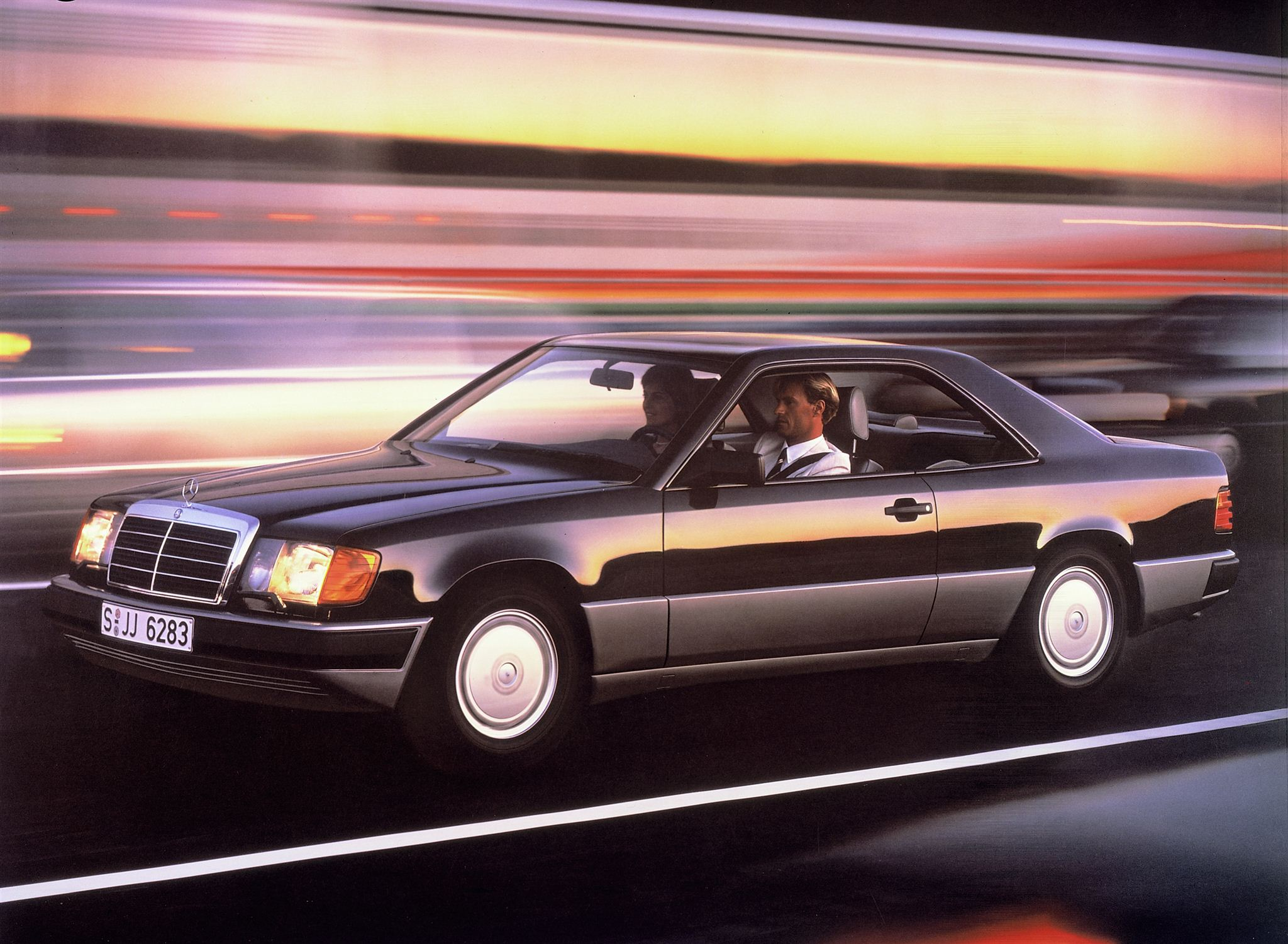 mercedes w124 coupe 1991 wallpaper