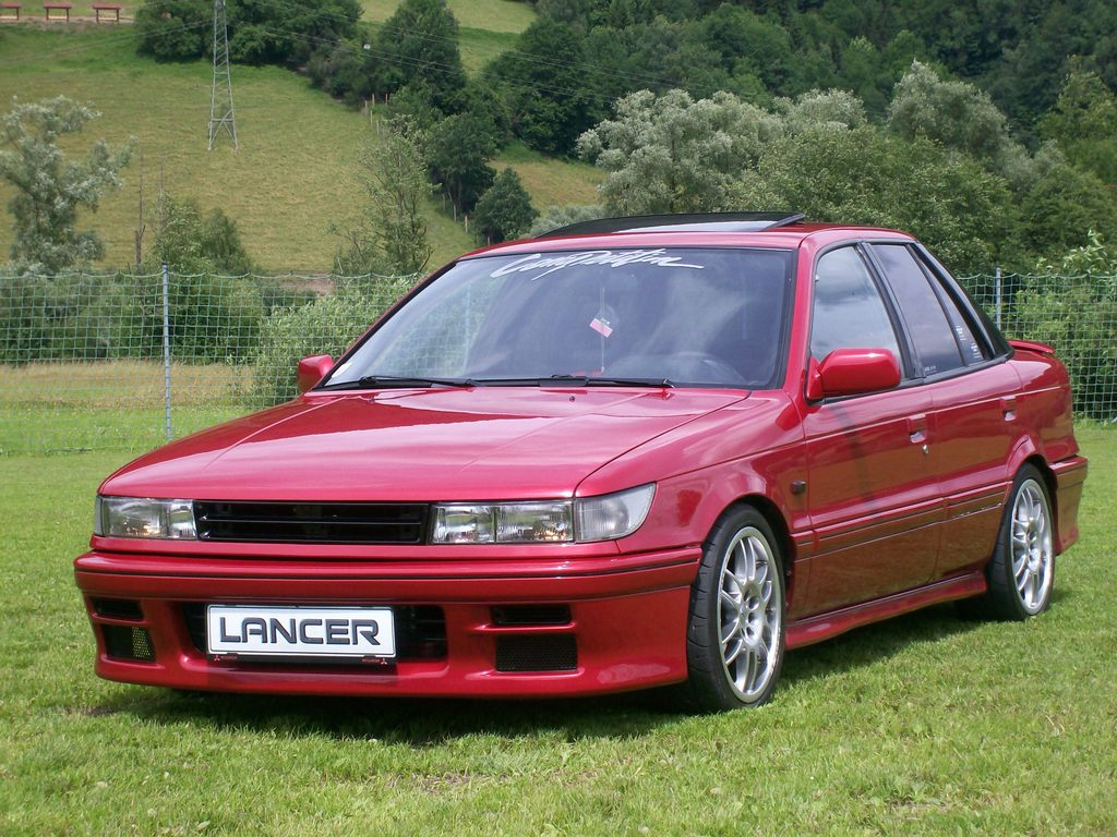 mitsubishi galant vii sedan 1992 wallpaper