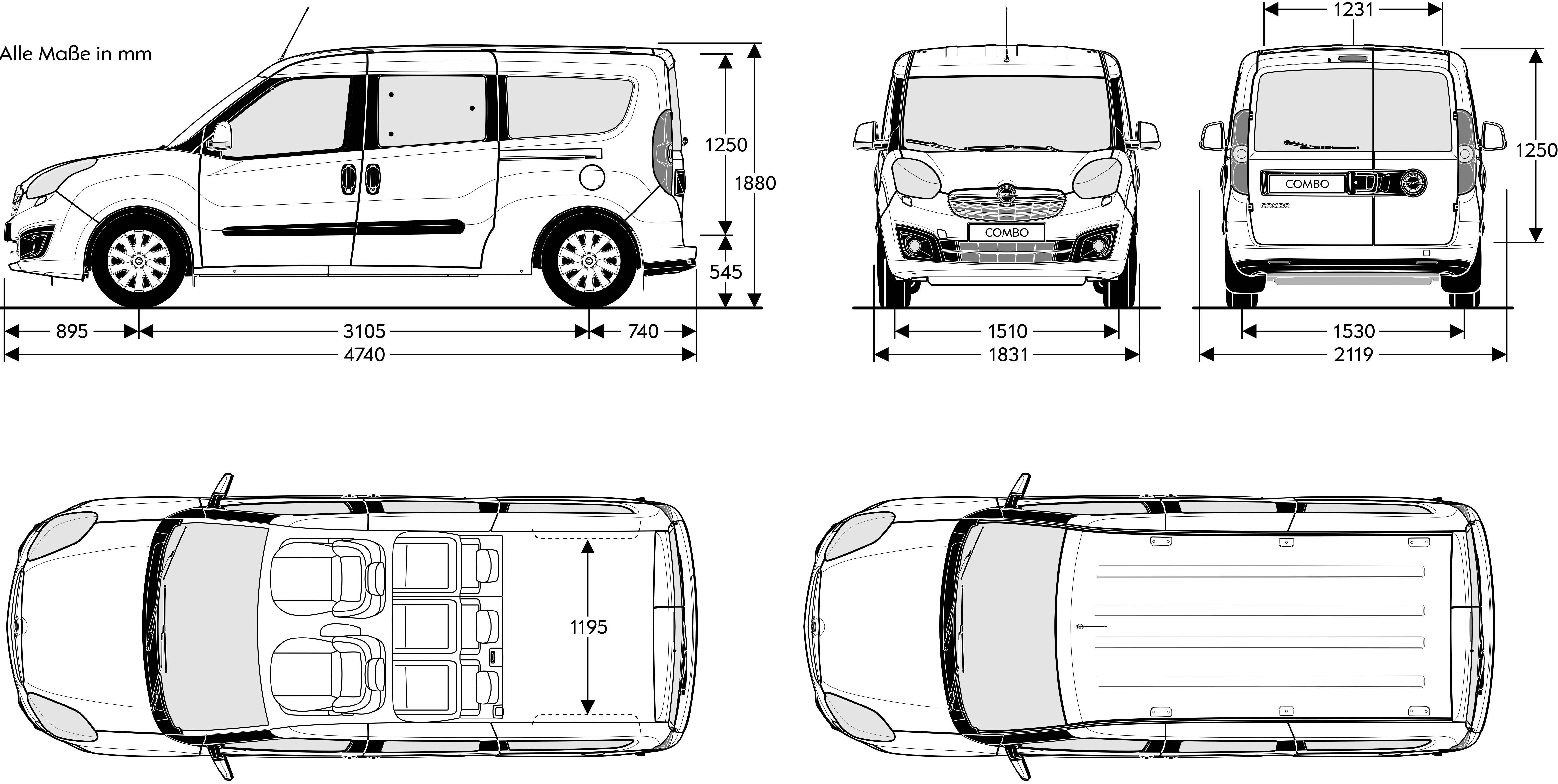 opel combo  u2013 pictures  information and specs