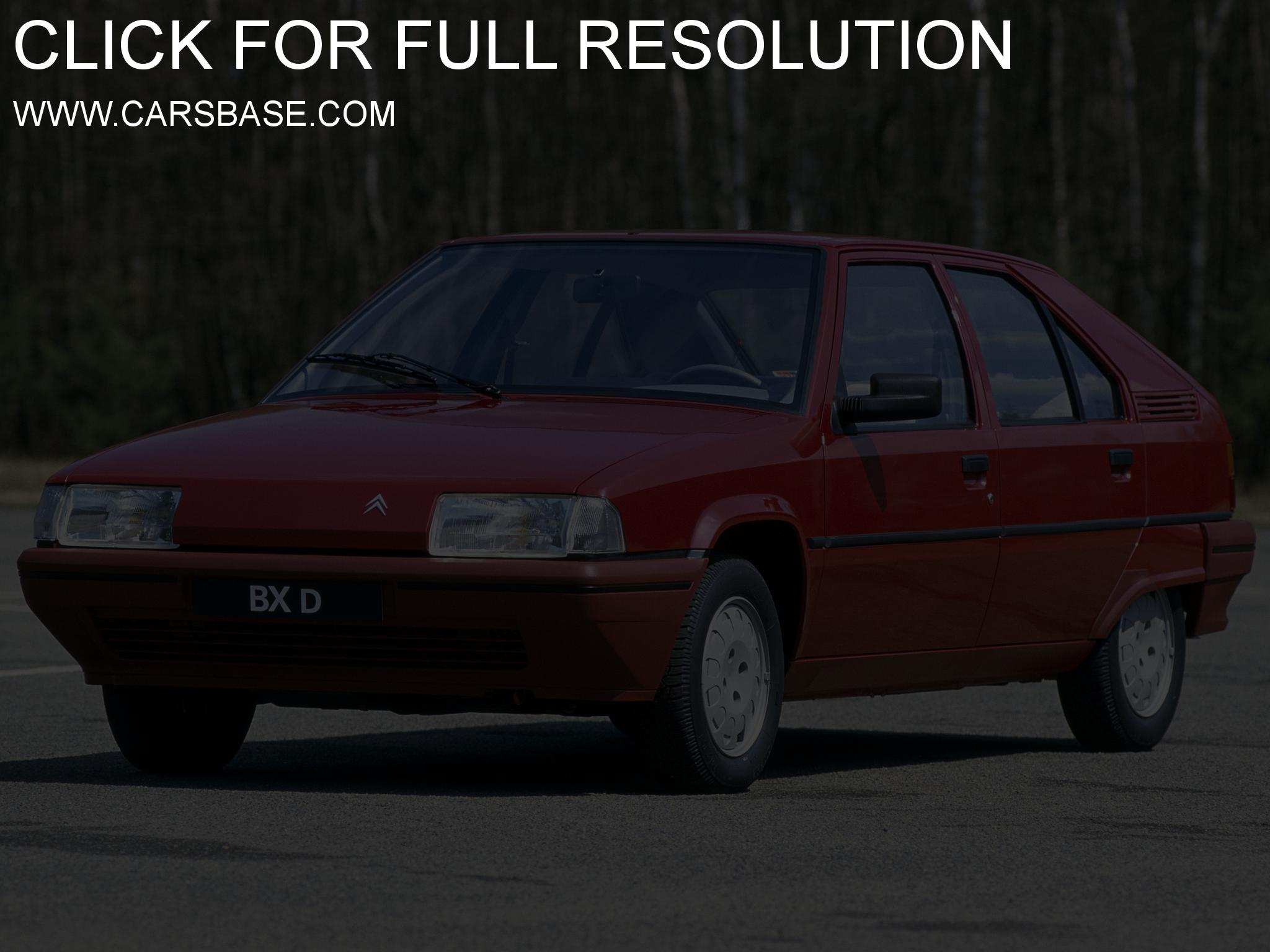 Pictures of citroen bx