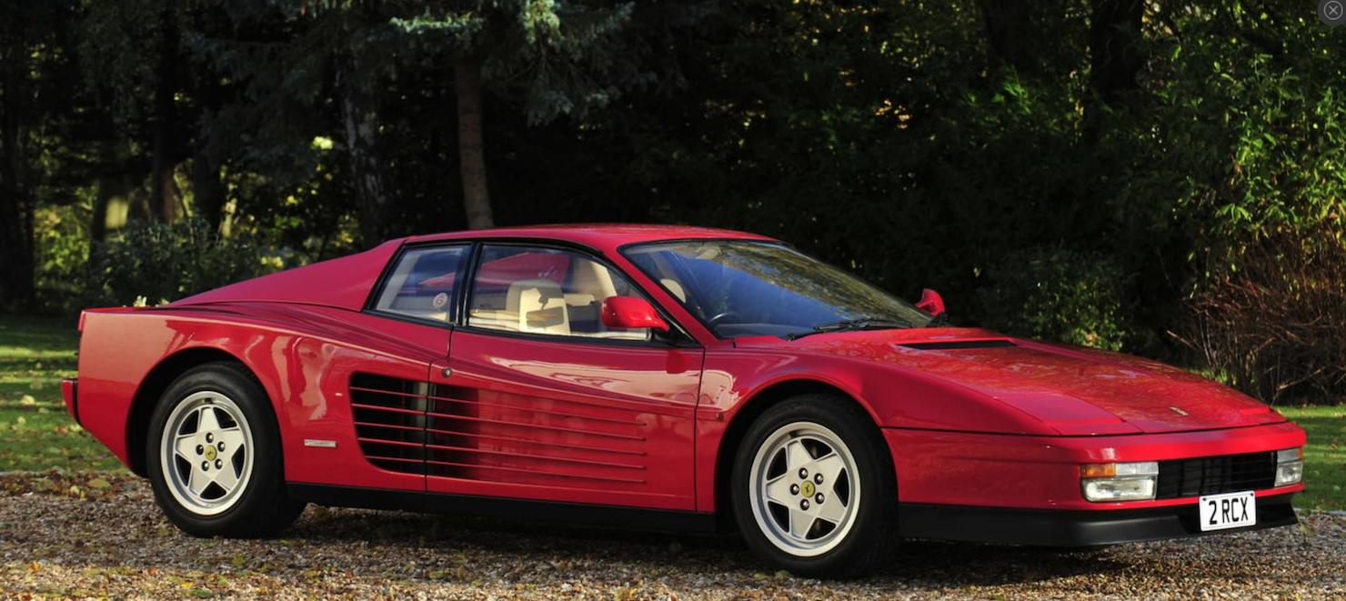 Pictures of ferrari testarossa