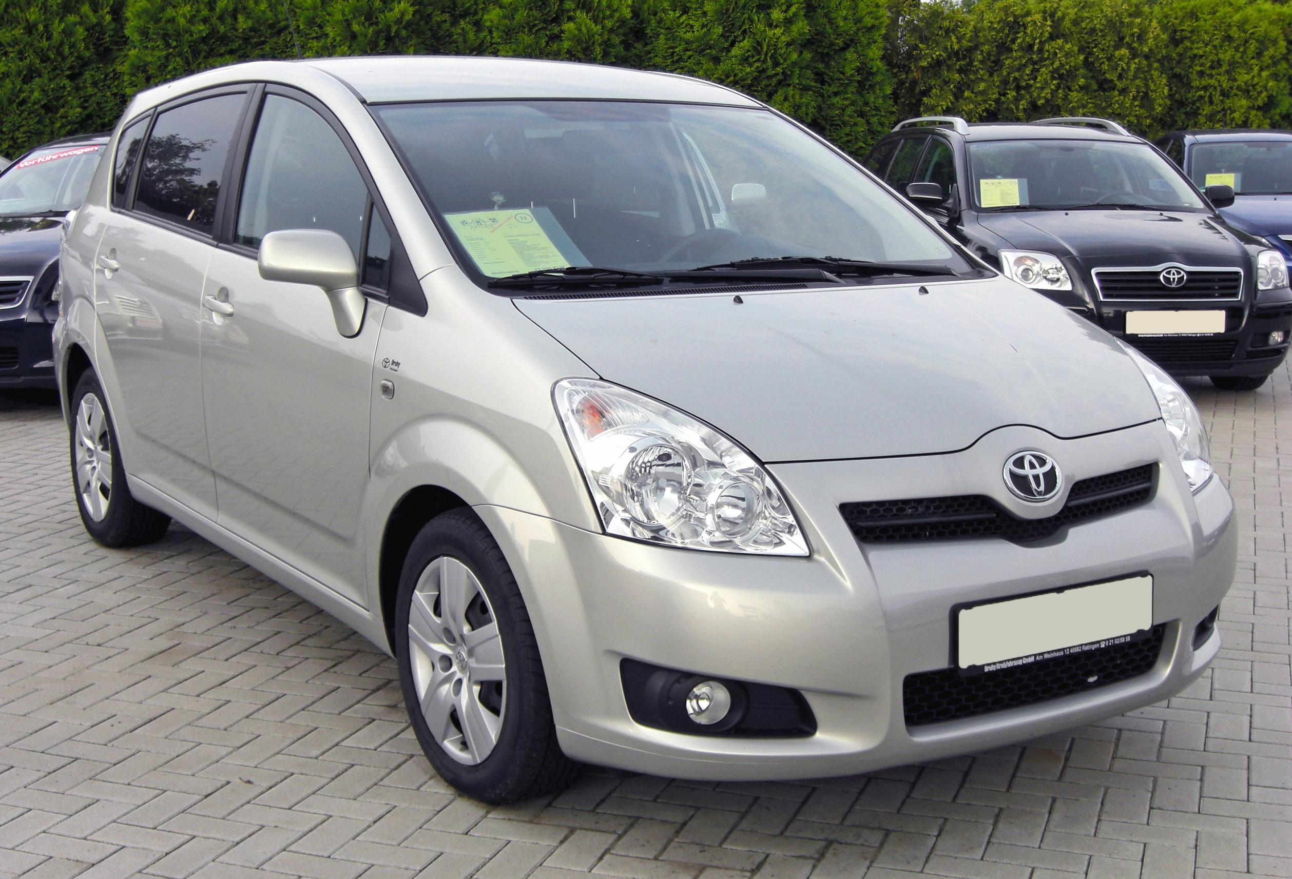 Pictures of toyota corolla verso 2009