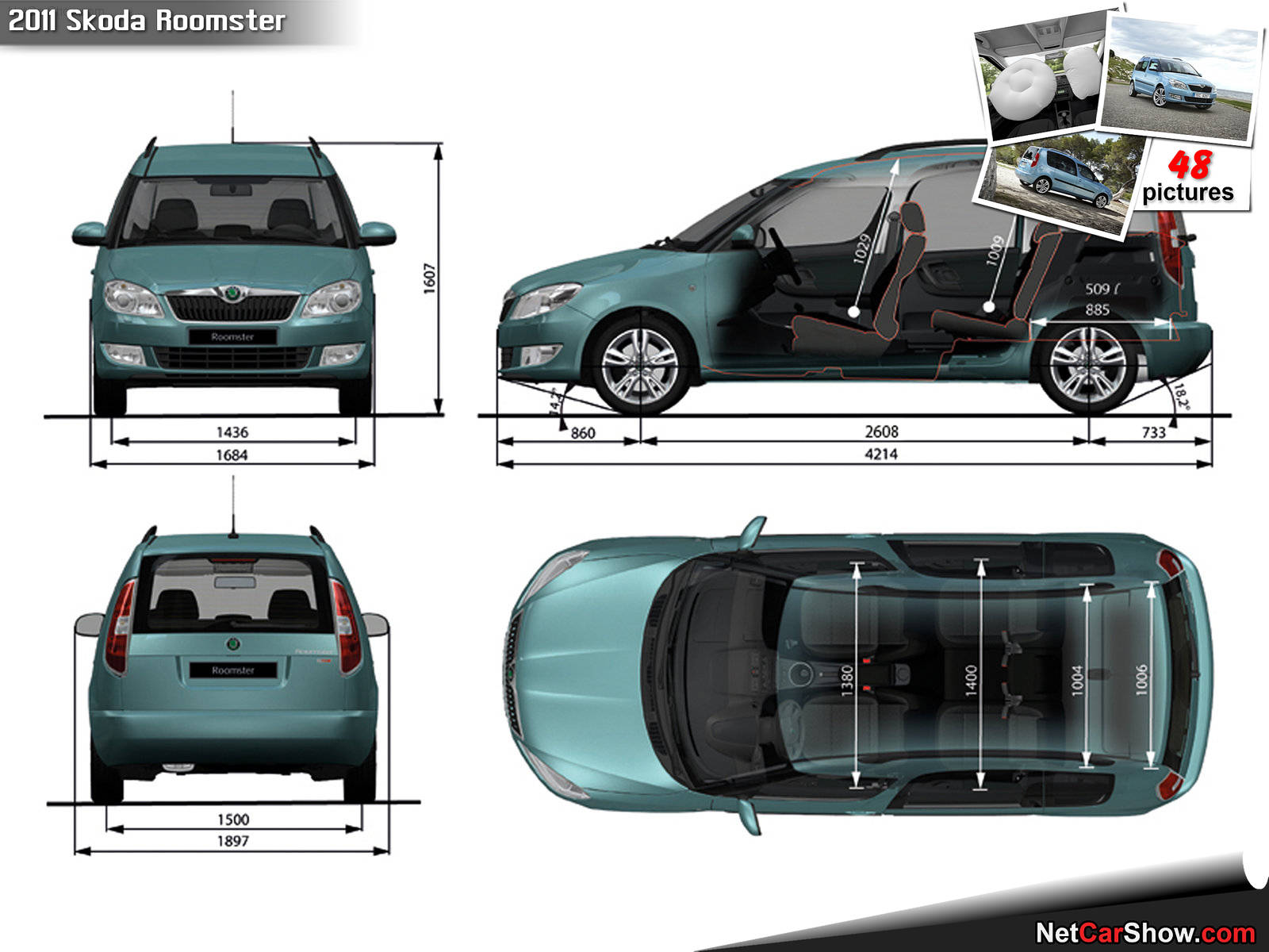 skoda roomster pictures