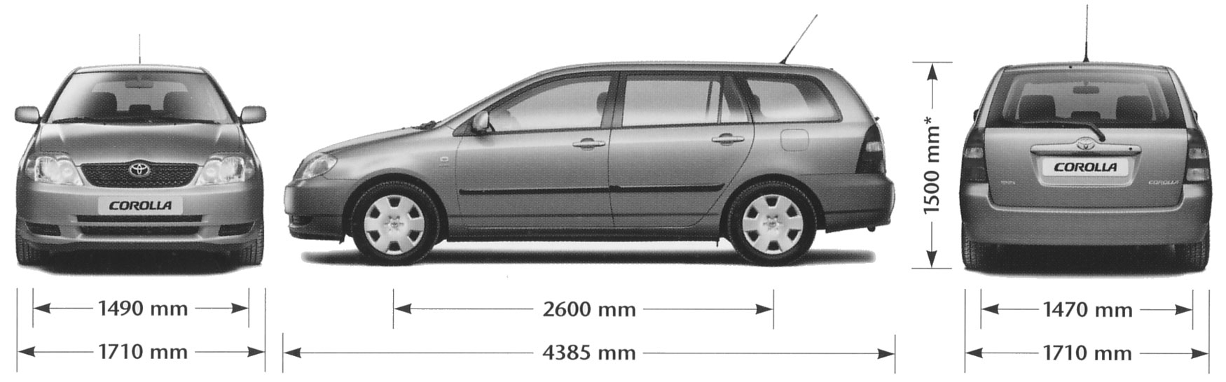 toyota avensis station wagon pictures information