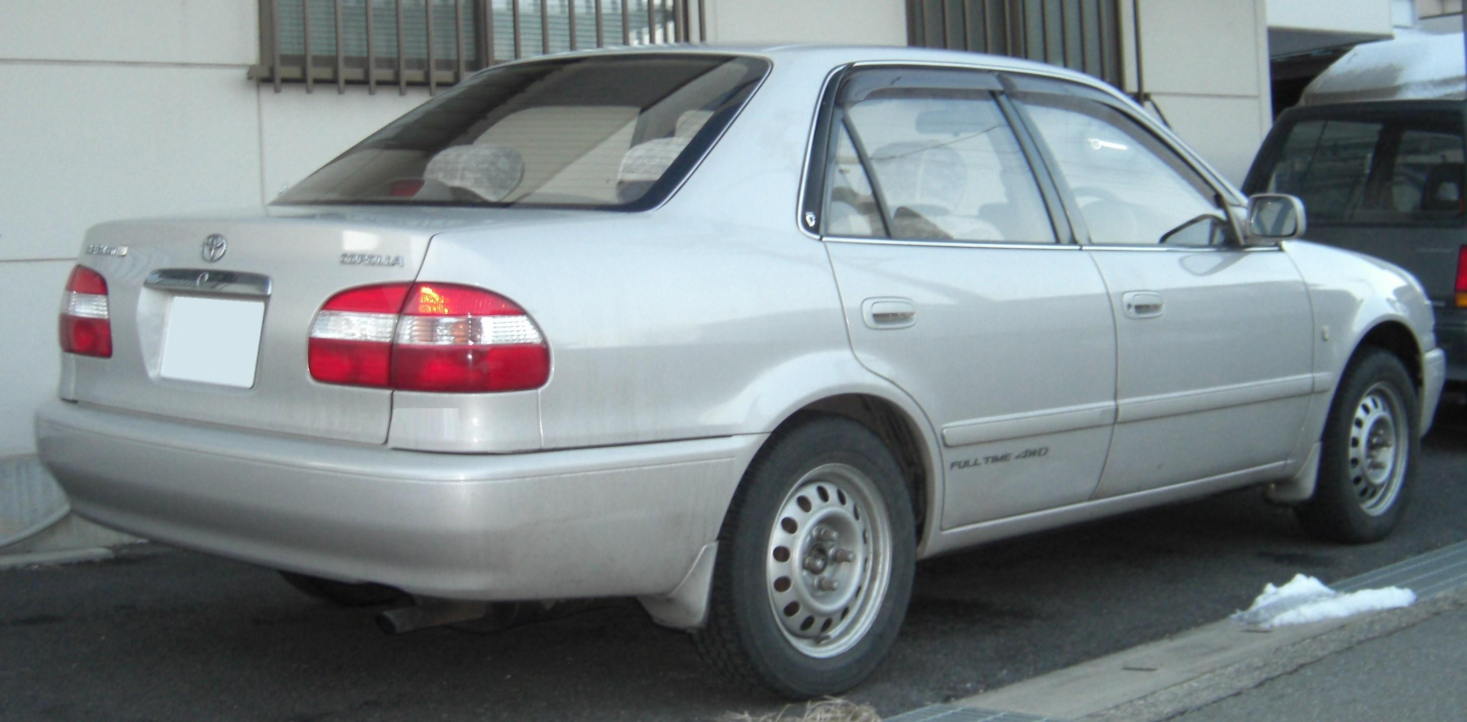 toyota corolla compact (e11) 1998 pictures