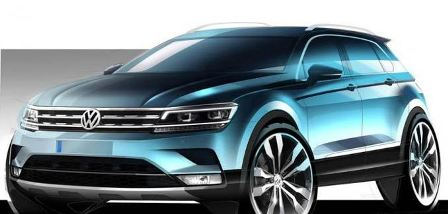 Volkswagen Announced the Tiguan's Sketch