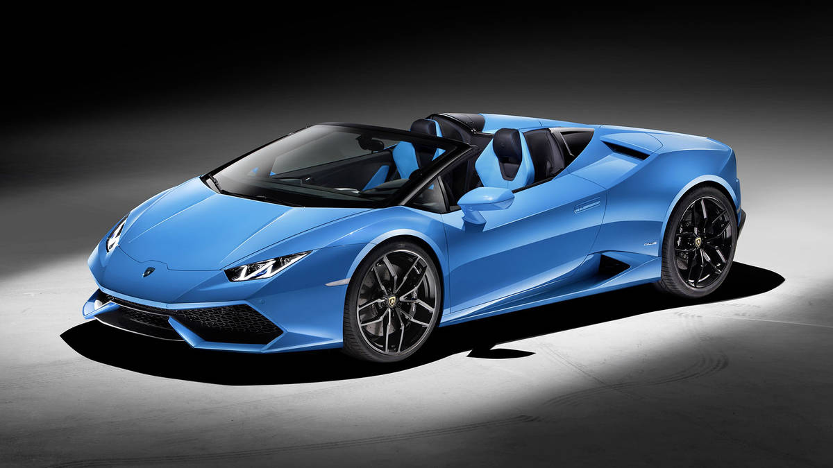 New Lamborghini Huracan Spyder Was Presented During  The Frankfurt Motor Show